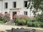 18th Century Mansion in 5-Acre park with Pool and Tennis Court, Near Nimes. 7 bedrooms, sleeps 14 (ANDU101GN)