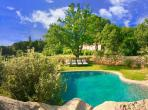 Breathtaking mountain retreat with 4 very different properties, superb heated infinity swimming pool, sleeps 8. (BED101)