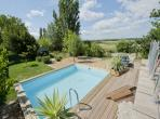 Beautiful old Winery located in Canet dAude with 4 bedrooms, a private heated pool, ping pong and large garden. Sleeps 8 adults and 2 kids. (CANAU103)