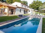 Stunning Provencal-style villa, complete with a private salt-water pool and air-conditioning. Sleeps 8 in 4 bedrooms.  (GRAS122)